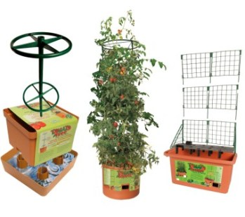 Self watering tomato planters garden greenhouse - Self watering container gardening system ...