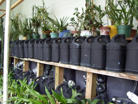 Passive Solar Heating in a Greenhouse