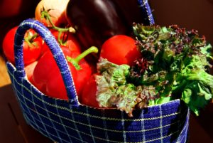Food in a Basket
