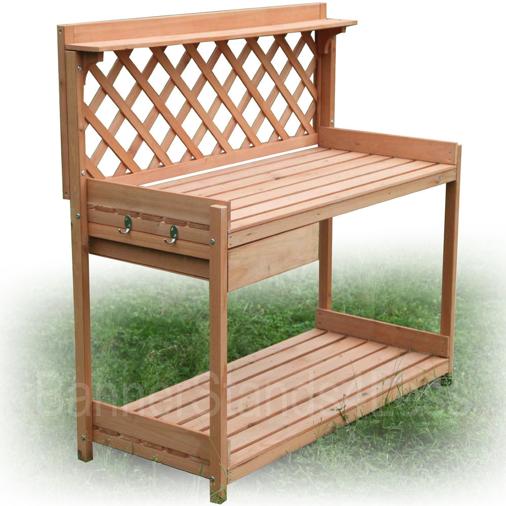 How To Build A Cedar Potting Bench Garden Greenhouse