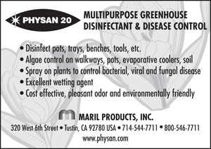 Physan 20 Greenhouse Disinfectant