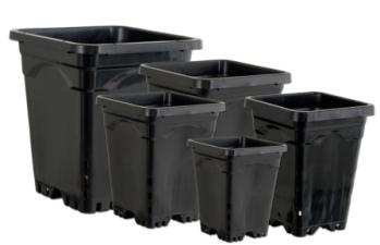 Active Aqua Square Black Pots